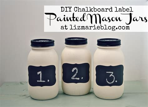 painting chalkboard paint on jars diy chalkboard label jars