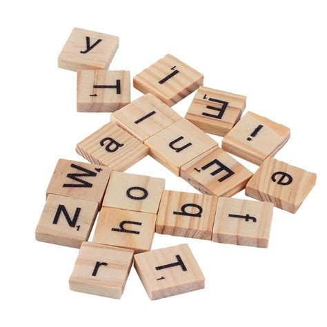 wooden scrabble tiles 100 wooden alphabet tiles black letters numbers for