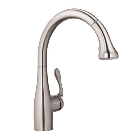 hansgrohe allegro e kitchen faucet hansgrohe allegro e single handle pull out sprayer kitchen faucet in steel optik 04066860 the