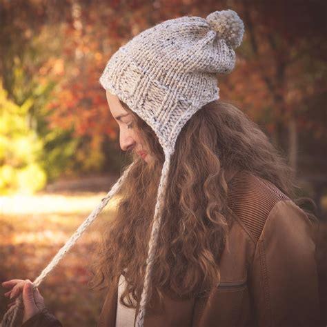 loom knit earflap hat pattern loom knit earflap hat pattern split brim hat bulky