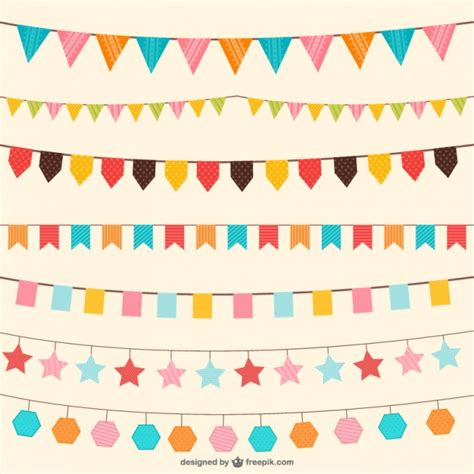 colour in decorations birthday decorations in different colors vector free