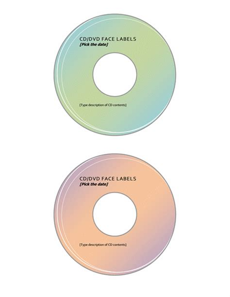 cd dvd label template microsoft word templates