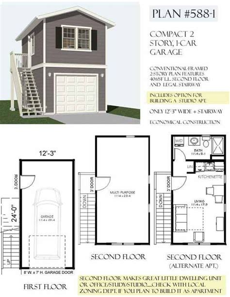 two story garage plans with apartments carriage way house studio and vrbo on top floor