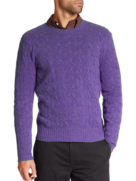 cable knit ralph sweater polo ralph cable knit sweater in purple
