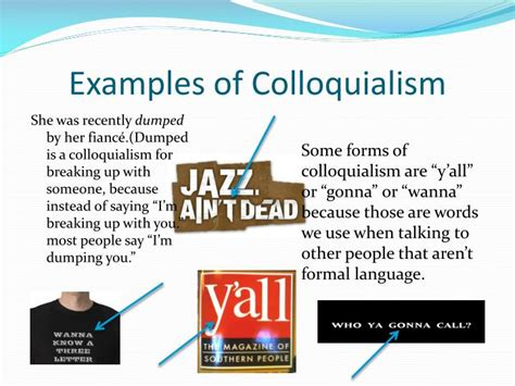 exles of ppt colloquialism powerpoint presentation id 4874078