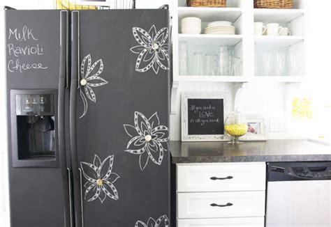 chalkboard paint in fridge how to make a chalkboard fridge tips tricks ideas