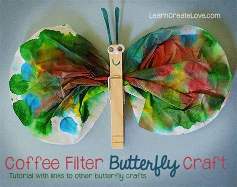 butterfly craft coffee filter butterfly craft