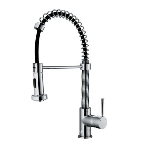 vigo kitchen faucet vigo single handle pull out sprayer kitchen faucet in chrome vg02001ch the home depot