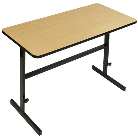 standing desk heights correll adjustable standing height desk 30 quot w x 60 quot l