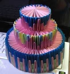 origami birthday cake 3d origami simple cake and papercraft paper origami