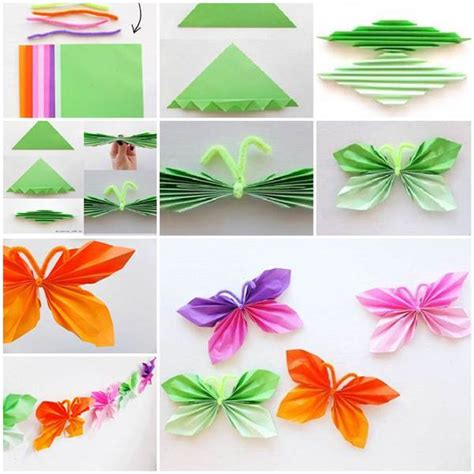paper butterflies craft diy easy folded paper butterflies icreativeideas