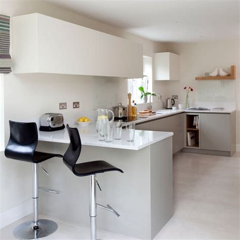 kitchen with breakfast bar designs white modern breakfast bar housetohome co uk