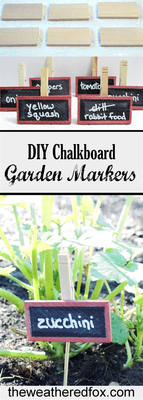 diy chalkboard markers diy wood stained re usable chalkboard garden markers