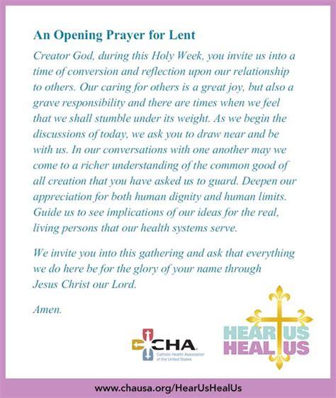 prayer for opening an opening prayer for lent hearushealus lent