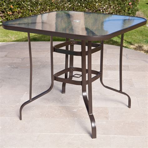 patio table bar height coral coast balcony height outdoor dining table