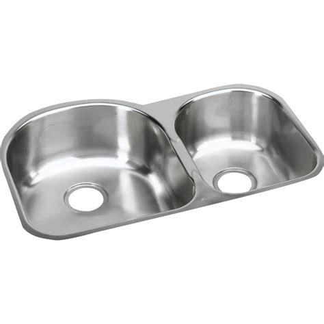 elkay stainless steel kitchen sinks shop elkay harmony soft highlighted satin basin