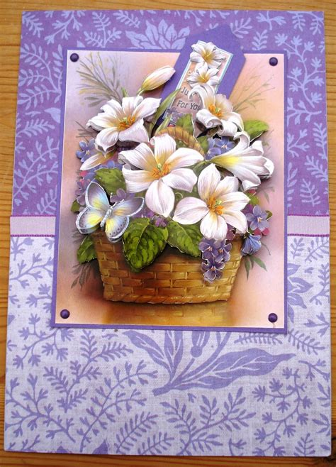 decoupage card looby s place floral decoupage card