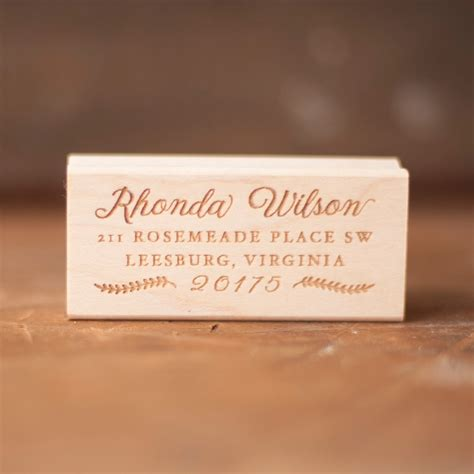 personalized rubber sts wedding address st rustic return address st rubber st