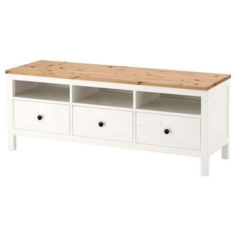 muebles hemnes ikea hemnes tv sehpası beyaz vernik a 231 ık kahverengi 148x47 cm