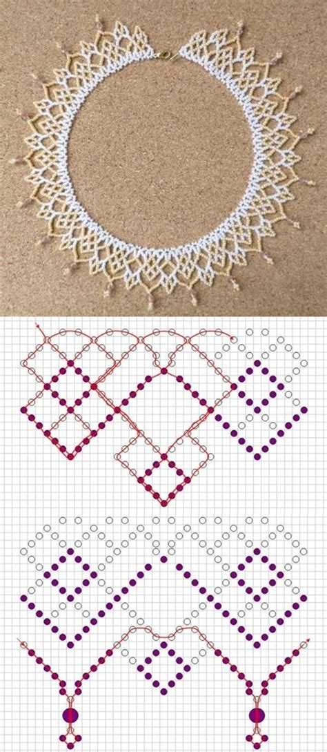 bead necklace tutorial patterns 25 best ideas about beaded necklace patterns on