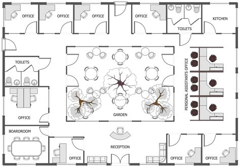 layout floor plan office layout plans solution conceptdraw