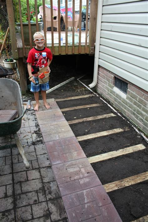laying a paver patio how to lay a brick paver patio or path sand and sisal