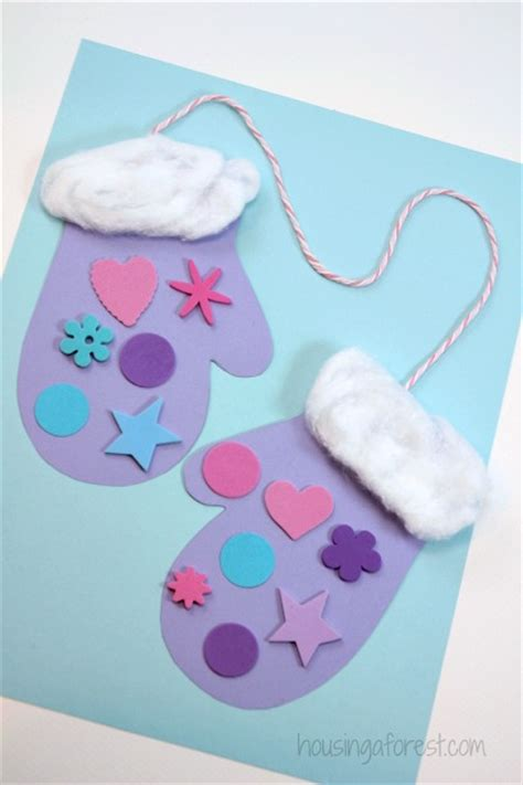 winter craft projects for preschoolers winter mitten craft for preschoolers housing a forest