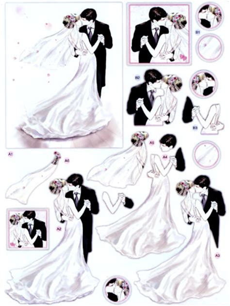 wedding decoupage sheets dcd591 wedding day die cut 3d decoupage sheets