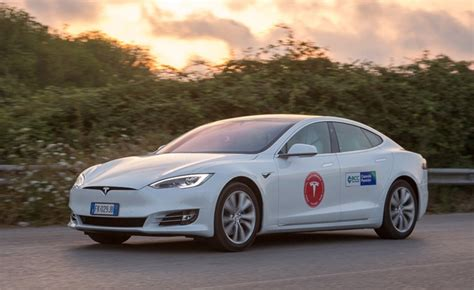 Tesla Car Distance by Tesla Model S Sets New Distance Record On A Single Charge
