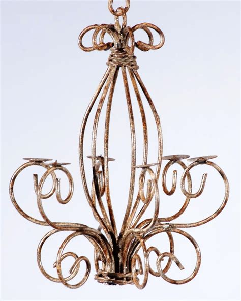 rod iron chandelier wrought iron small country chandelier
