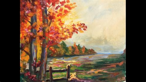 acrylic painting landscapes beginners beginner learn to paint a landscape acrylic for fall