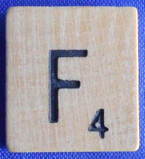 scrabble letter replacement single scrabble wood letter f tile one only