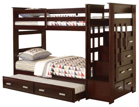 bunk beds with trundle allentown bunk bed with storage stairway