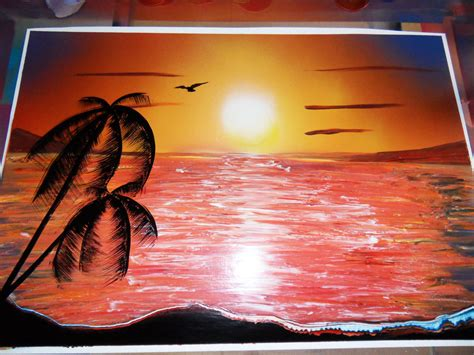Sunset Spray Paint By Nousernameavailabl On Deviantart