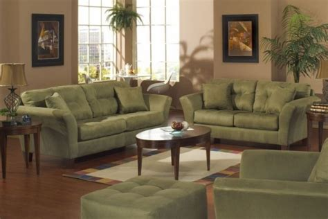 green living room set modern house