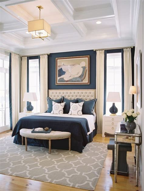 bedroom with blue walls best 25 navy blue bedrooms ideas on