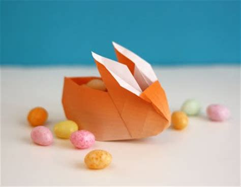 easy origami easter egg origami bunny favor boxes how about orange