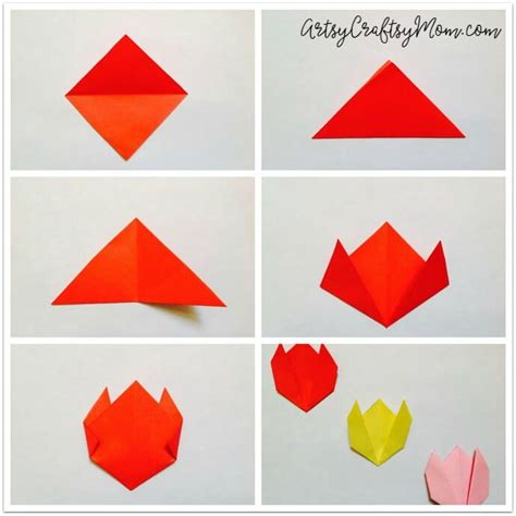 easy origami projects easy origami tulip craft for artsy craftsy