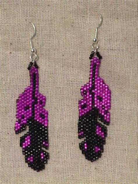 delica bead patterns beaded american earring patterns earrings