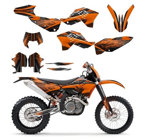 ktm exc xcf 125 250 300 450 530 graphics kit 2008 2009 2010 2011 no3333 orange ebay