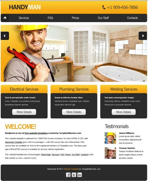 free site free website template with slideshow for maintenance