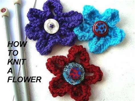 free knitted flower brooch patterns how to knit a flower diy knitted flower for brooches