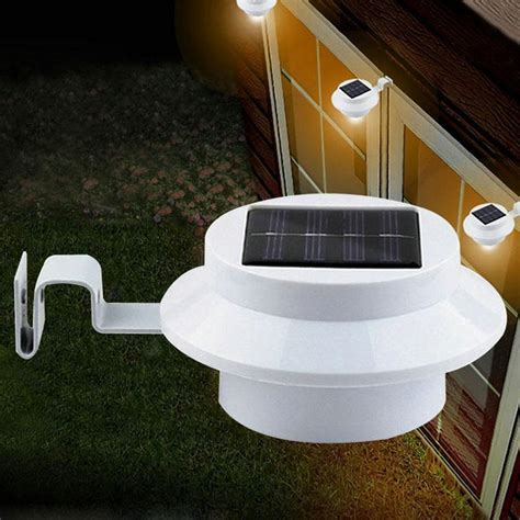 solar power outdoor light outdoor solar power 3 led fence gutter garden lawn roof