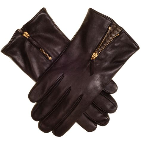 brown leather gloves mens black co uk chocolate brown leather gloves with tweed insert lined description