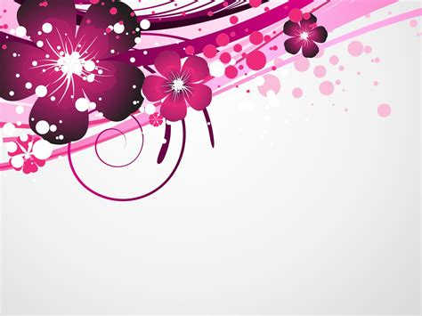 purple floral design ppt backgrounds design templates