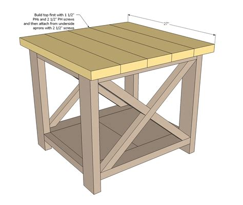 woodwork table designs rustic end table woodworking plans woodshop plans