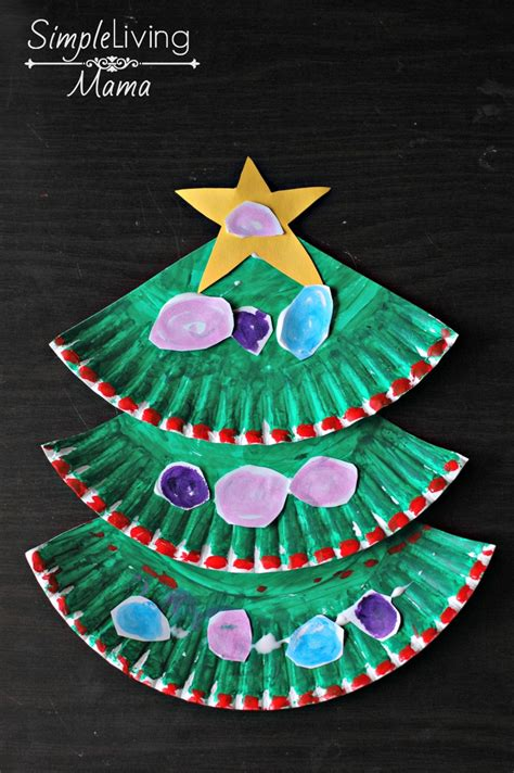 paper plate tree paper plate tree craft simple living