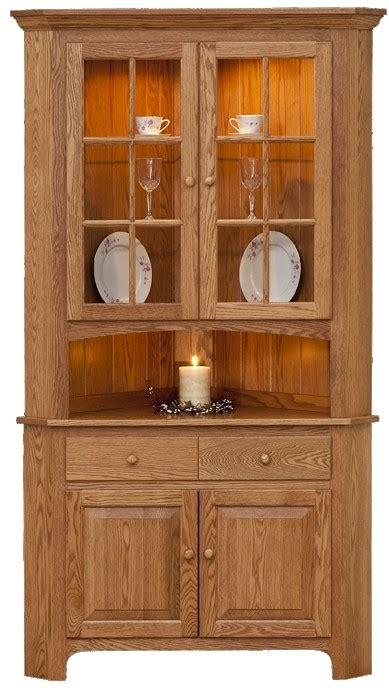 corner kitchen hutch furniture corner oak china cabinet foter