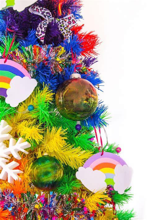 rainbow tree ornaments diy rainbow ornaments brite and bubbly