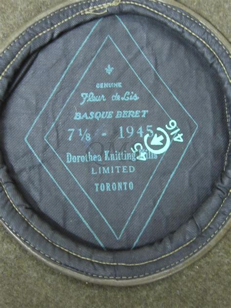 dorothea knitting mills limited beret canada 1945 baret canada 1945